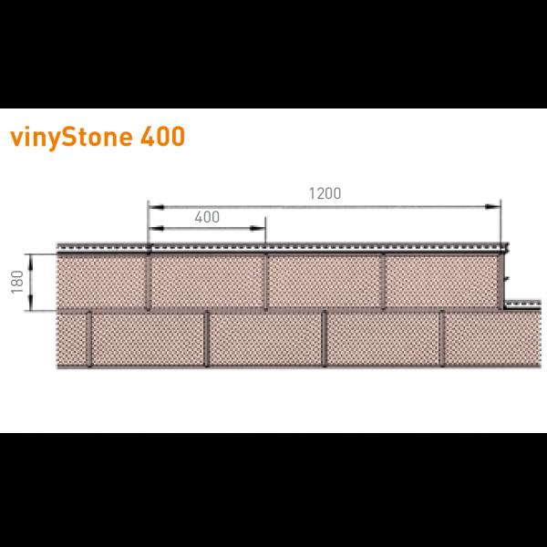 Visuel Bardage PVC Vinystone® Design Aspect Pierre Montana - 6 x 1.20 ml