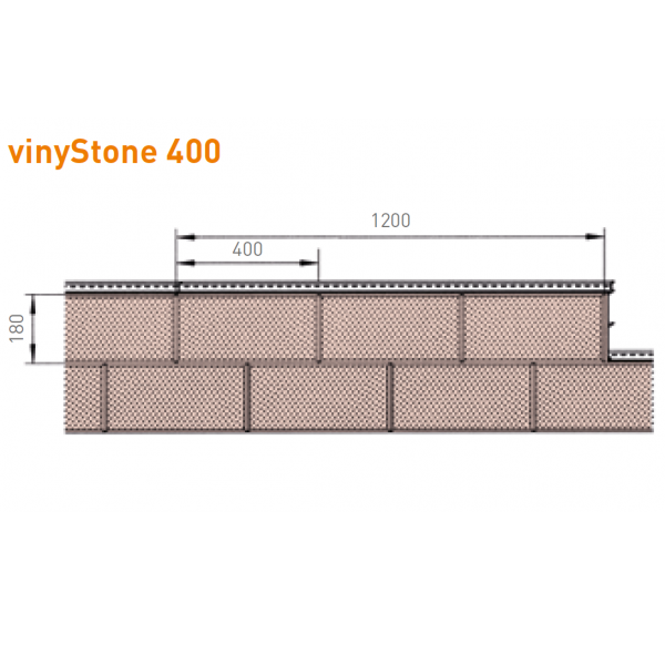 Visuel Bardage PVC Vinystone® 400 Aspect Pierre Dolomit - 6 x 1.20 ml
