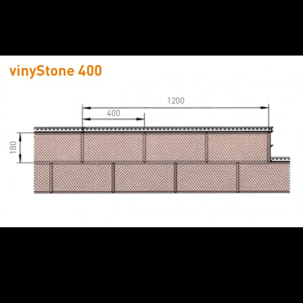 Visuel Bardage PVC Vinystone® 400 Aspect Pierre Sahara - 6 x 1.20 ml
