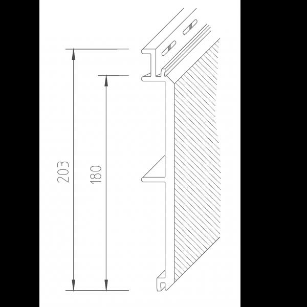 Visuel Bardage PVC Vinystone® 400 Elba - 6 x 1.20 ml