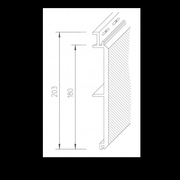 Visuel Bardage PVC Vinystone® 400 Madeira - 6 x 1.20 ml