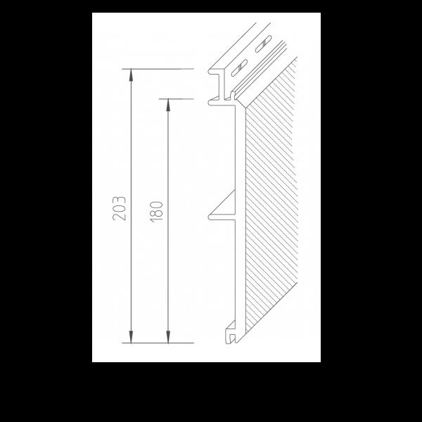 Visuel Bardage PVC Vinystone® 400 Helios - 6 x 1.20 ml