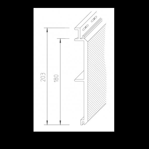 Visuel Bardage PVC Vinystone® 400 Aqua - 6 x 1.20 ml