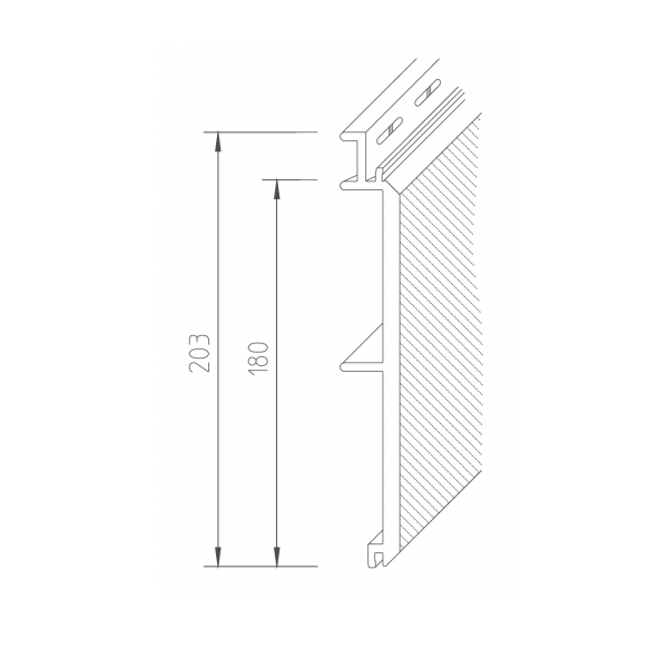 Visuel Bardage PVC Vinystone® 400 Aspect Pierre Basalt - 6 x 1.20 ml