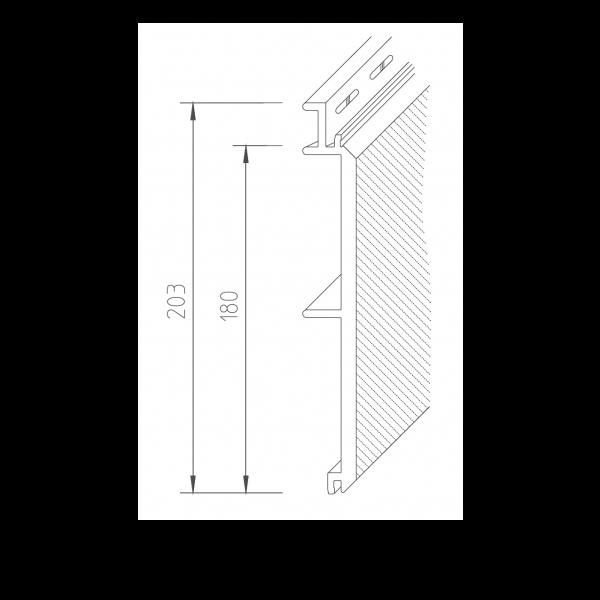 Visuel Bardage PVC Vinystone® 400 Rhodos - 6 x 1.20 ml