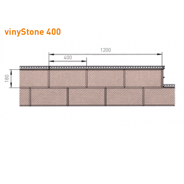Visuel Bardage PVC Vinystone® 400 Aspect Pierre Montana - 6 x 1.20 ml