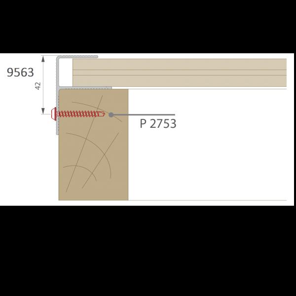 Visuel Profil de Finition Alu en F 40 x 57 mm Anodisé Argent