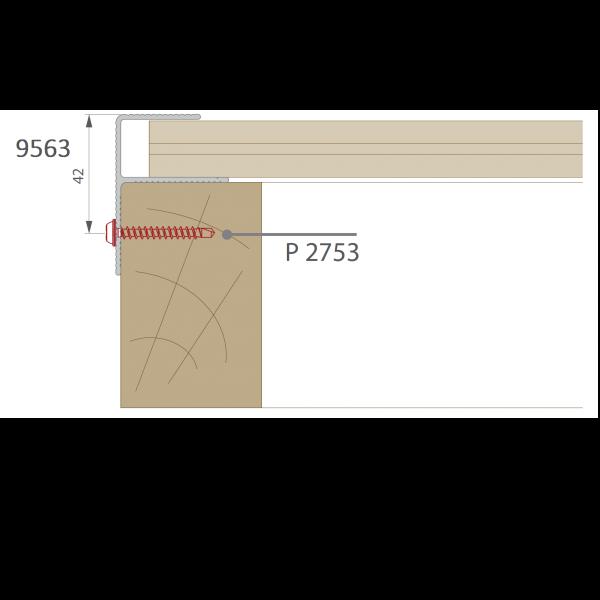 Visuel Profil de Finition Alu en F 40 x 57 mm Anodisé Brun