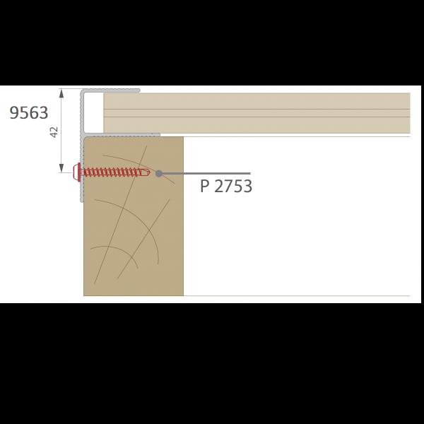 Visuel Profil de Finition Alu en F 40 x 57 mm Noir