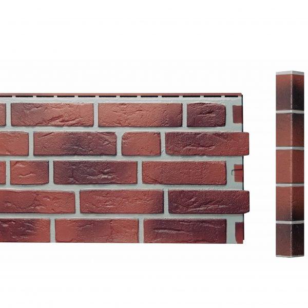 Visuel Bardage Fibre de verre Vinybrick® Aspect brique standard Rouge flammée