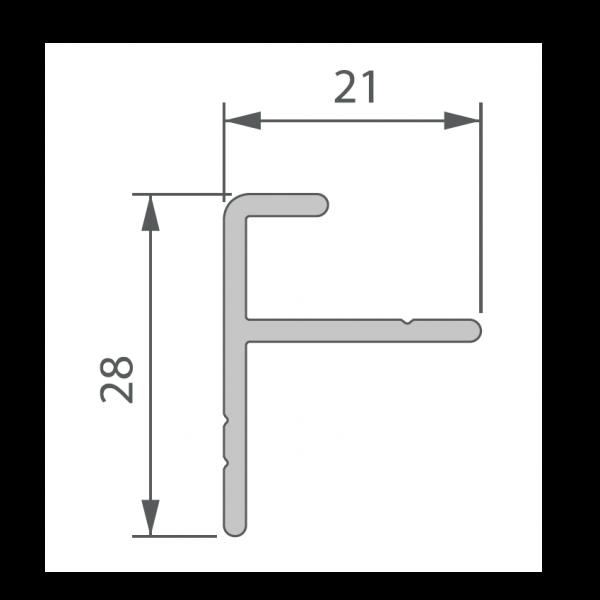 Visuel Profil de Départ Alu 21 x 28 mm pour Terrasse Massive
