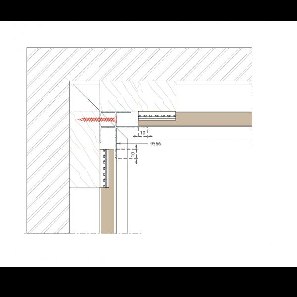 Visuel Angle de Finition int/ext en Alu Noir