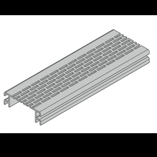 Visuel Profil de Ventilation 67,75 x 20 mm Anodisé Argent