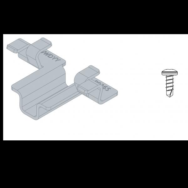 Visuel 100 Clips + Vis pour Lame de Terrasse Twinson®