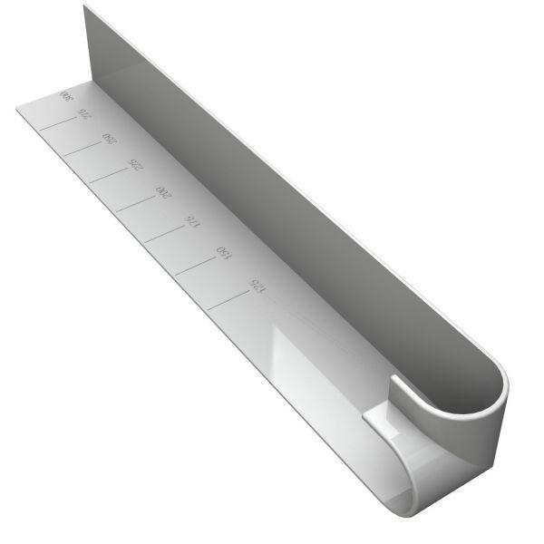 Visuel Angle Extérieur pour Planche de Rive 300 mm ép. 10 mm Blanc