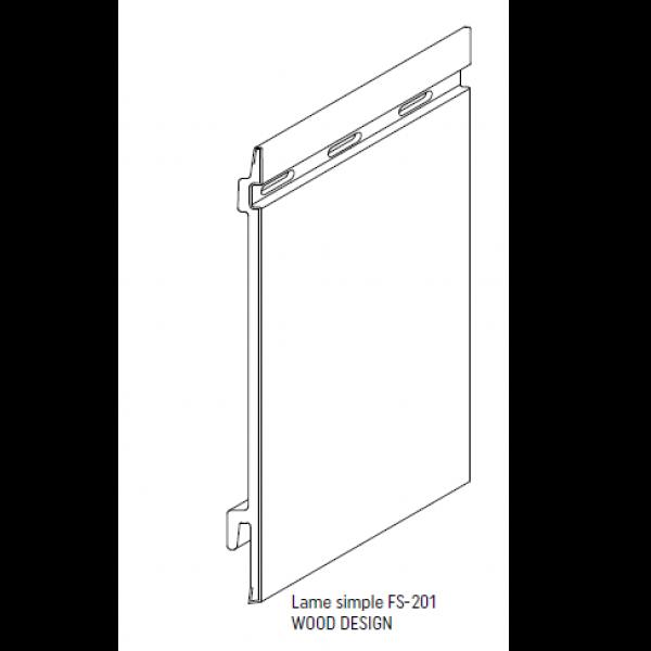 Visuel Bardage PVC Cellulaire Kerrafront® FS201 Connex Blanc 2.95 ml