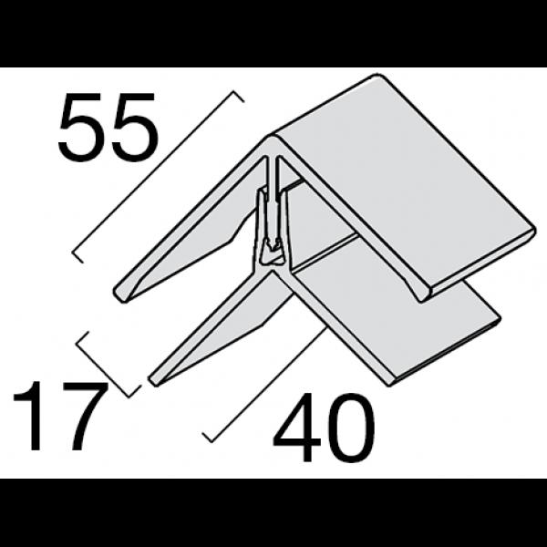 Visuel Profil d'angle Kerrafront® Blanc