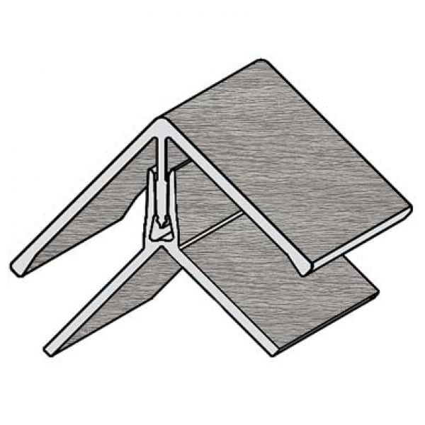 Visuel Profil d'angle Kerrafront® Gris argenté