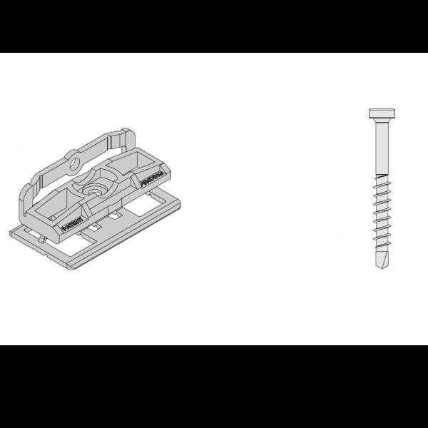 Visuel 100 Clips + Vis pour terrasse Twinson®