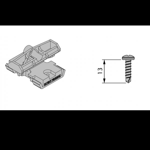 Visuel 85 Clips + Vis pour terrasse Twinson®
