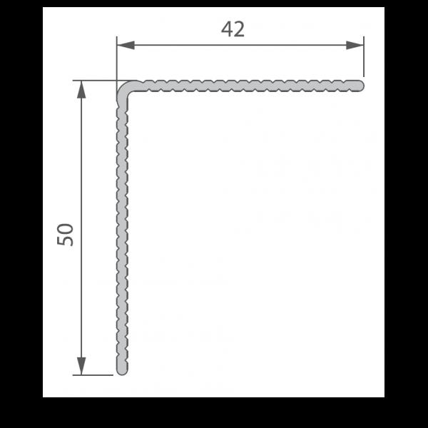 Visuel Profil de Finition Alu 42 x 50 mm pour Twinson® Anodisé Argent