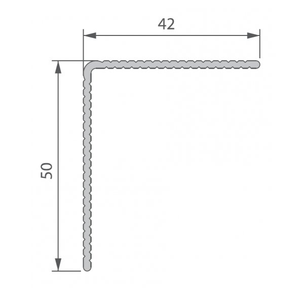 Visuel Profil de Finition Alu 42 x 50 mm pour Twinson® Anodisé Brun