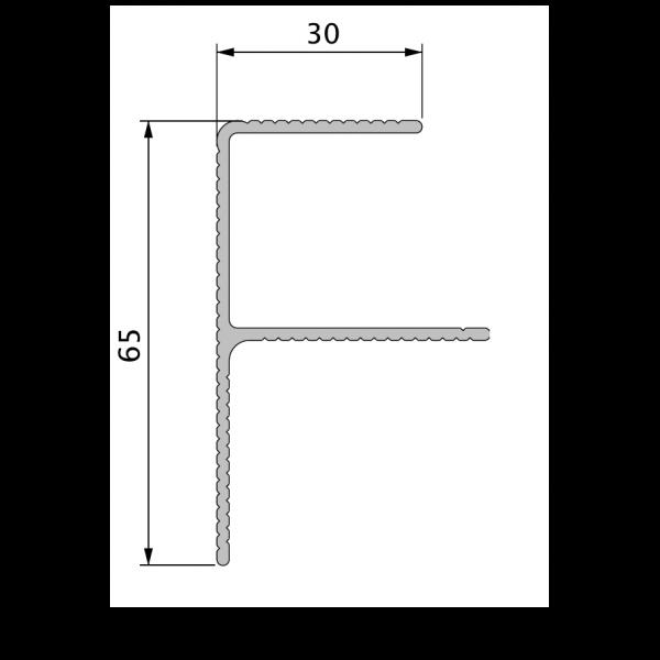 Visuel Profil de Finition Alu en F 40 x 65 mm Twinson® Anodisé Brun