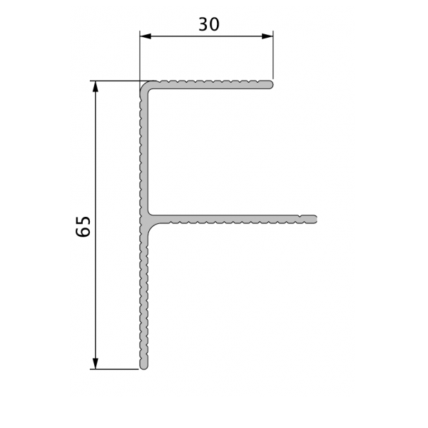 Visuel Profil de Finition Alu en F 40 x 65 mm Twinson® Noir