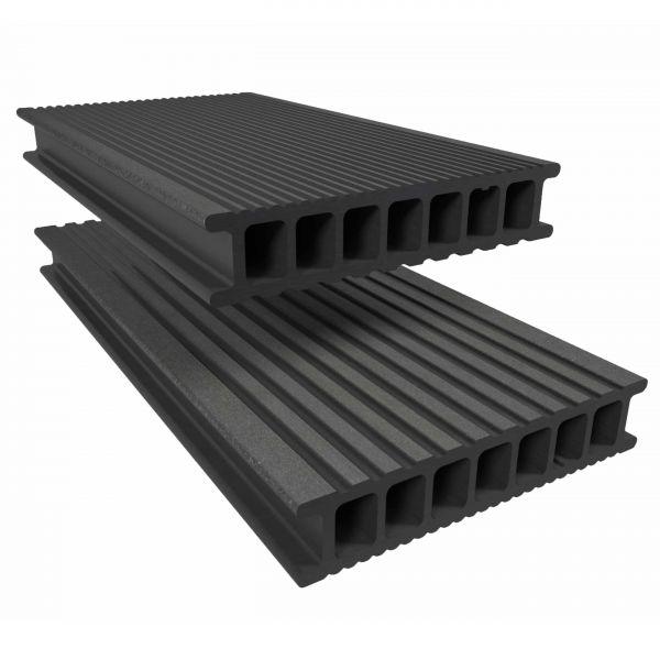Visuel Lame de Terrasse Essentielle Alvéolaire Twinson® 3000 x 140 x 28 mm Gris galet