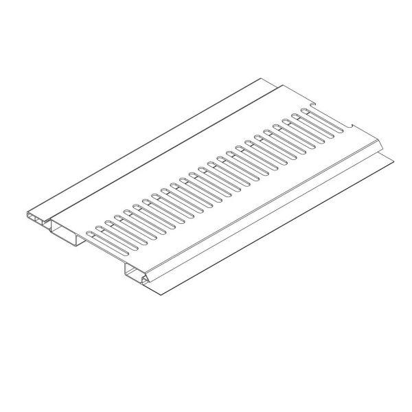 Visuel Ventilation Mâle/Femelle 100 x 10 mm Blanc