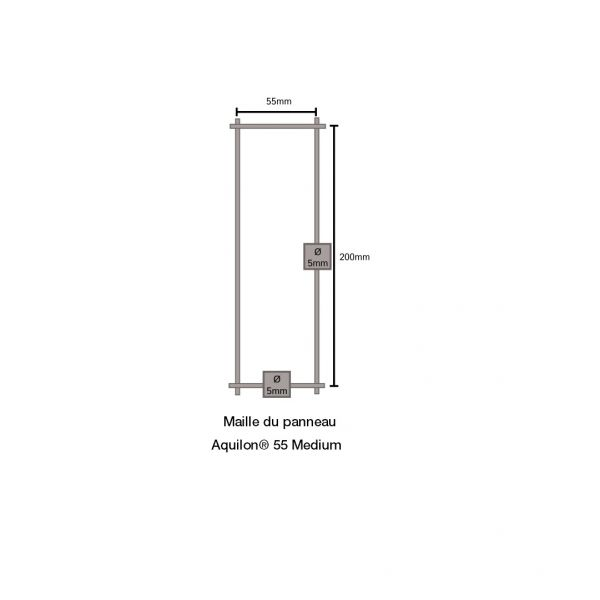 Visuel Panneau Aquilon® 55 Medium Vert H.1,53 ml