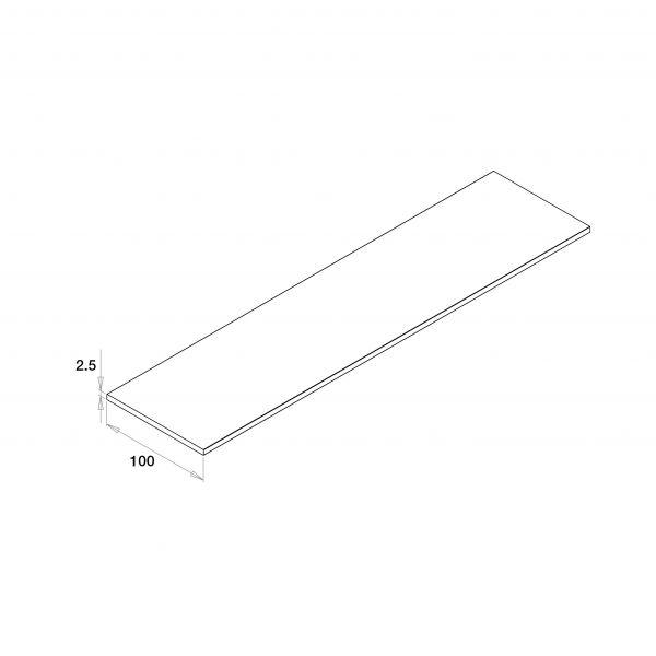 Visuel Plat PVC Lisse Blanc 9016 100 x 2,5 mm