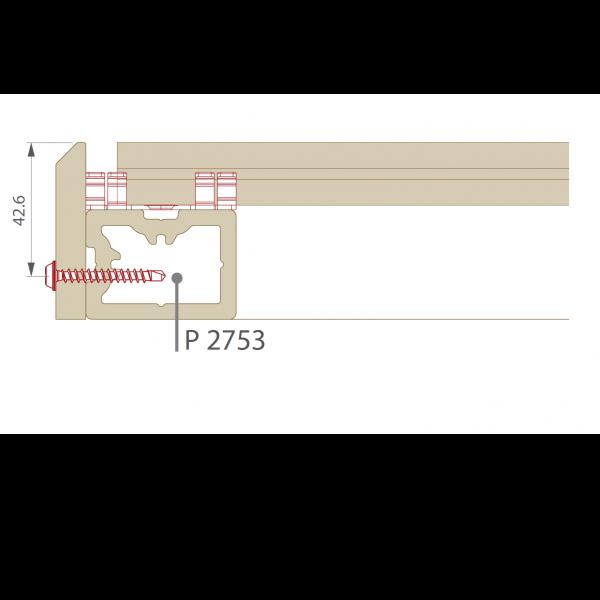 Visuel Plinthe 77,6 x 9,6 mm pour Terrasse Twinson Beige noix