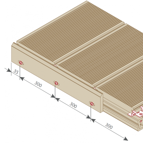 Visuel Plinthe 77,6 x 9,6 mm pour Terrasse Twinson Brun écorce