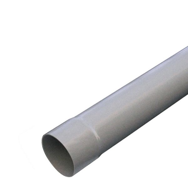 Visuel Tube de descente D.80 mm Longueur 4 ml Gris