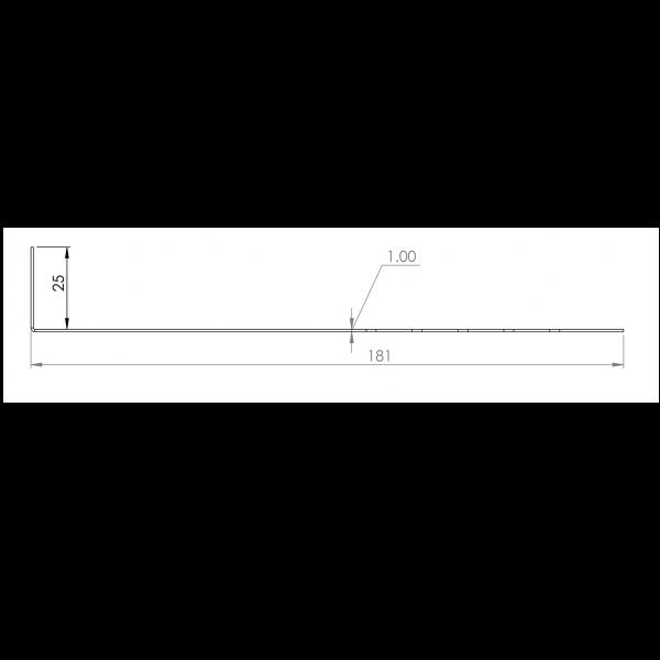Visuel Tôle départ Alu Ventilée Packeasy® prof. 181 mm RAL 7030