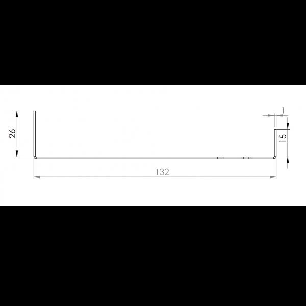 Visuel Tôle Départ Alu Ventilée prof. 132 mm Tasseaux 40 mm RAL 5024