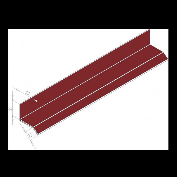 Visuel Larmier Alu 22 mm RAL 3011