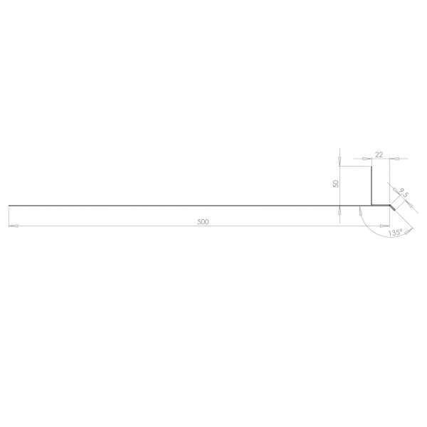 Visuel Tôle Linteau Alu Ventilée 22 mm RAL 3011