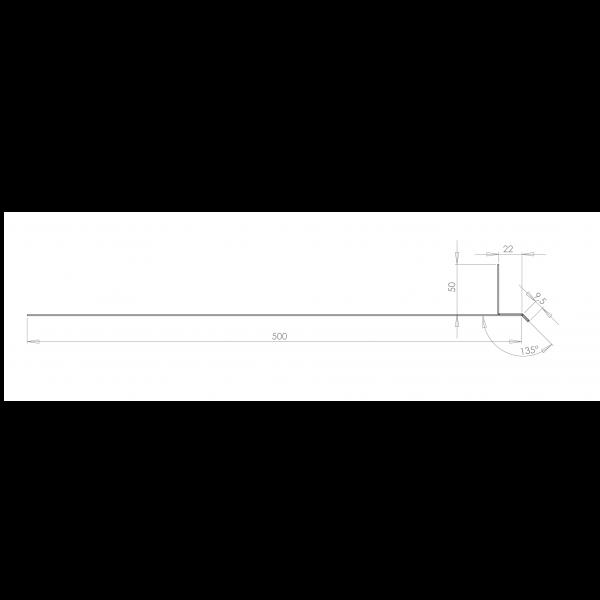 Visuel Tôle Linteau Alu Ventilée 22 mm RAL 7030