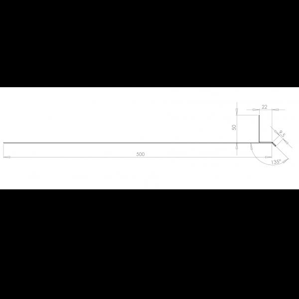 Visuel Tôle Linteau Alu Ventilée 22 mm RAL 7032