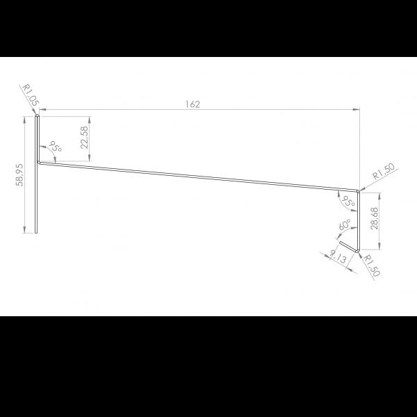 Visuel Tôle Rive Alu prof. 164 mm RAL 7022