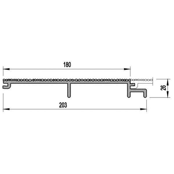 Visuel Bardage PVC Cellulaire Vinytherm® sans chanfrein Aspect Crépi Tirol LS