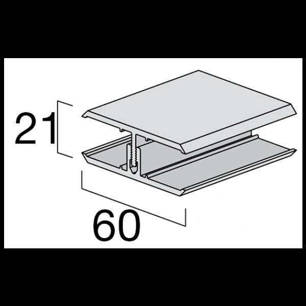 Visuel Profil de Jonction en 2 parties Kerrafront® Gris perle