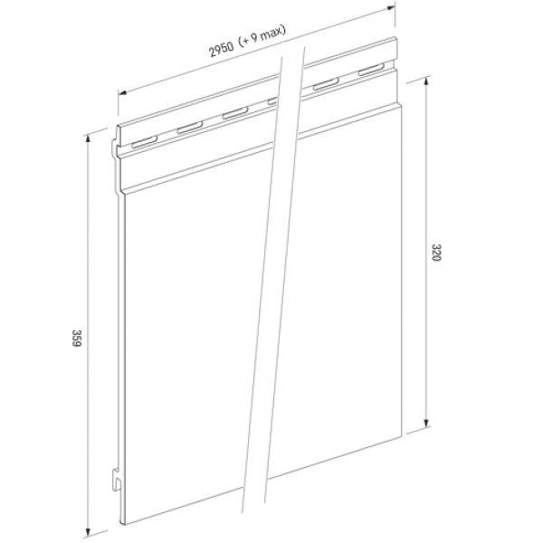 Visuel Bardage PVC Cellulaire Kerrafront® FS301 Connex Stone Anthracite 2.95 ml