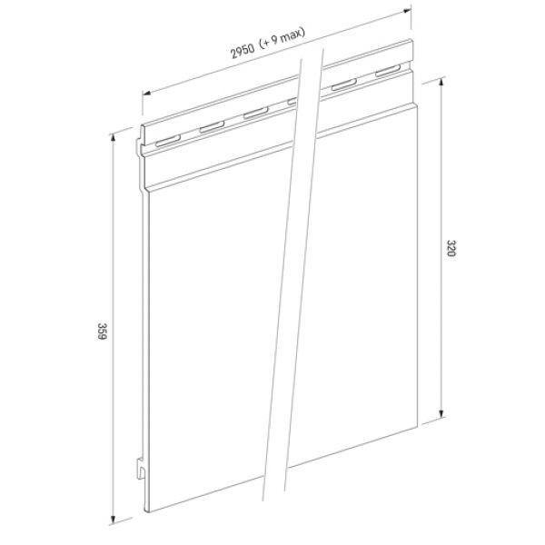 Visuel Bardage PVC Cellulaire Kerrafront® FS301 Connex Soft Anthracite 2.95 ml