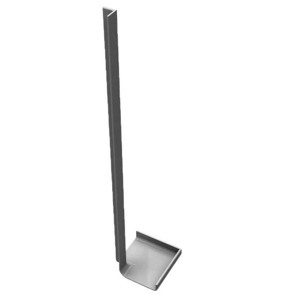 Visuel Angle Intérieur H. 300 mm pour Planche de Rive en L Arrondie Gris
