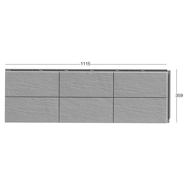 Visuel Bardage Fibre de verre Zierer® Structure Terre cuite Gris pierre
