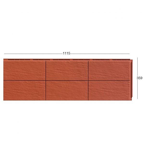 Visuel Bardage Fibre de verre Zierer® Structure Terre cuite Rouge tuile