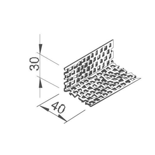 Visuel Profil de Ventilation Alu pour Bardage Alvéolaire Vinyplus®